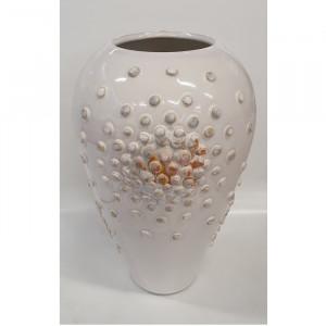 Vaza vidutinė ovali su burbuliukais balta