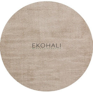 Kilimas Ekohali Comfort 1006 beige apvalus 130 cm