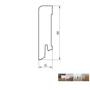Faneruota grindjuostė, 16x60 2,5m, Pedross