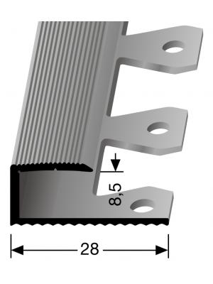 """Profilis aliuminis, kraštų užbaigimui EB 210 (lenkiamas), sidabro spalvos, 270cm, """"Kons."""" Kuberit"""
