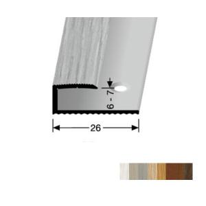 Profilis aliuminis, kraštų užbaigimui BEST 211 H (pragręžtas su varžtais), 2,7 m