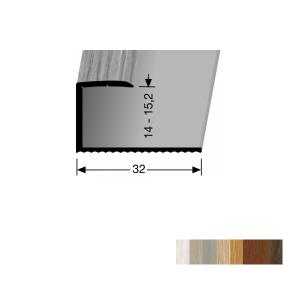 Profilis aliuminis, kraštų užbaigimui BEST 215 H (pragręžtas su varžtais), 0,9 m