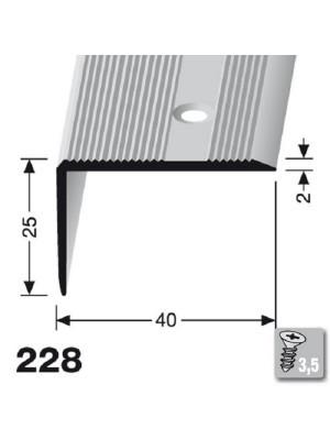 Profilis aliuminis, kampų apdailai BEST 228 ( pragręžt. su varžtais), 2,5 m