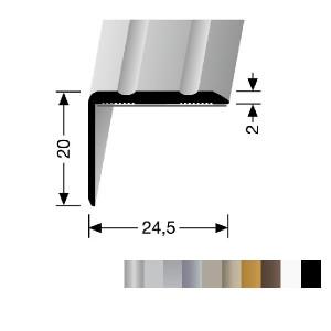 Profilis aliuminis, kampų apdailai BEST 235 SK (prisiklijuojantis), 1 m