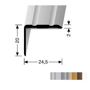 Profilis aliuminis, kampų apdailai BEST 235 SK (prisiklijuojantis), 2,7 m