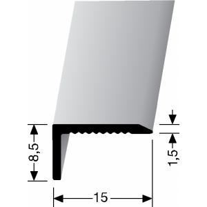 Profilis aliuminis, kampų apdailai BEST 238 U (nepragręžtas)