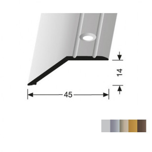 Profilis aliuminis, kraštų užbaigimui BEST 241  (pragręžtas su varžtais), 2,7 m