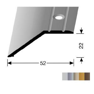 Profilis aliuminis, kraštų užbaigimui BEST 245 (pragręžtas su varžtais), 0,9 m
