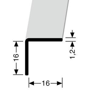 Profilis aliuminis, kampų apdailai BEST 277 U, 2,5 m