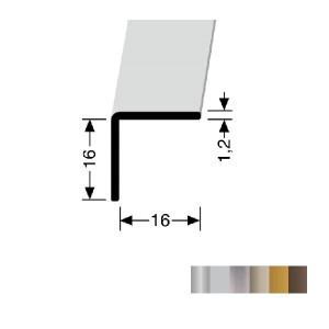 Profilis aliuminis, kampų apdailai BEST 277 U, 5 m