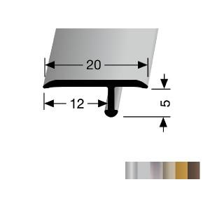 Profilis aliuminis, dangų sujungimui EB 291 (lenkiamas), 2,7 m