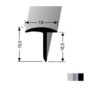 Profilis aliuminis, dangų sujungimui, BEST 294 (pragręžtas su varžtais), 2,5 m