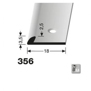 Profilis aliuminis, kraštų užbaigimui BEST 356 (pragręžtas su varžtais), 1 m