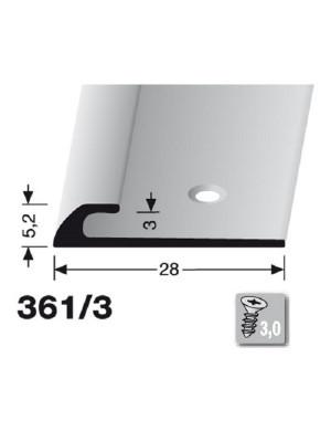 Profilis aliuminis, kampų apdailai BEST 361/3, 2,5 m