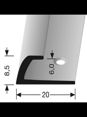 Profilis aliuminis, kampų apdailai BEST 362, 2,5 m