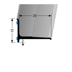 Profilis aliuminis, kampų apdailai BEST 369 SK F15 (prisiklijuojantis), baltos (RAL9016) spalvos, 200cm, Kuberit