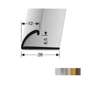 Profilis aliuminis, kraštų užbaigimui BEST 370 SK (prisiklijuojantis), 2,7 m