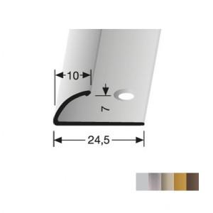 Profilis aliuminis, kraštų užbaigimui BEST 390 (pragręžtas krašte su varžtais), 2,7 m