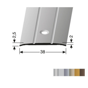 Profilis aliuminis, dangų sujungimui BEST 438 (pragręžtas su varžtais), 2,7 m