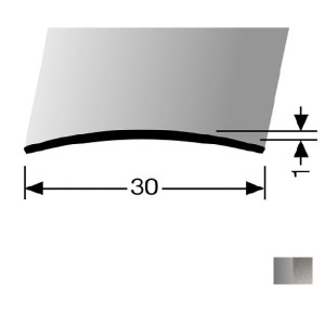 Profilis nerūdijančio plieno, dangų sujungimui BEST 451 U (nepragręžtas), 2,7 m