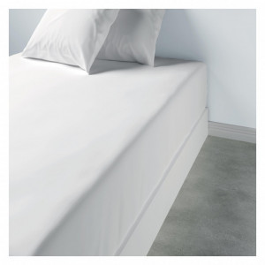 Patalynė paklodė su guma 160 x 200 x 35 cm balta Les Ateliers du Linge
