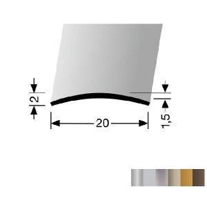 Profilis aliuminis, dangų sujungimui BEST 458 U (nepragręžtas), 1 m