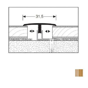 Profilis aliuminis, dangų sujungimui Mono clip 558H 7-12mm, 1 m