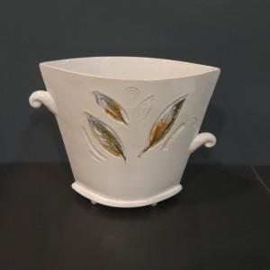 Vaza trapecinė vidutinė balta
