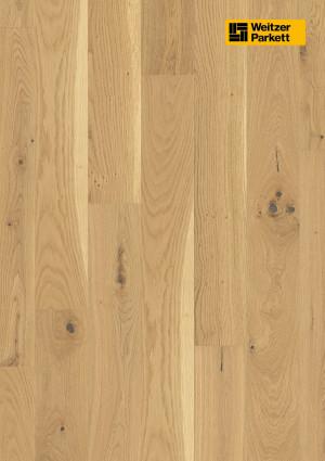Parketlentės Weitzer parkett, Pure ąžuolas, rustic colourful, 62192, 1800x175x11, 1 juostos, Comfort plank kolekcija