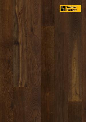 Parketlentės Weitzer parkett, dūmintas ąžuolas, lively, 63620, 1800x175x14mm, 1 juostos, WP Quadra kolekcija