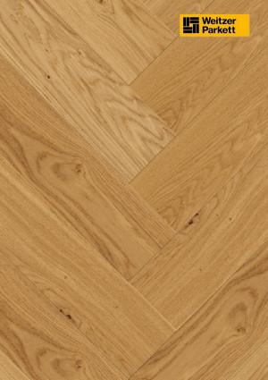 Parketlentė Weitzer parkett, natūralus ąžuolas eglutė 90°, lively, 63657, 750x125x12,2, 1 juostos, WP475 kolekcija