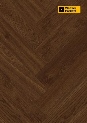 Parketlentė Weitzer parkett, dūmintas ąžuolas eglutė 90°, lively, alyva, 64967, 750x125x12,2, 1 juostos, WP475 kolekcija