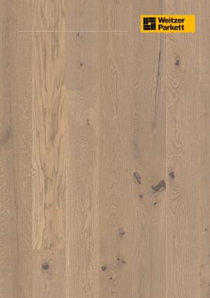 Parketlentės Weitzer parkett, Auster ąžuolas, rustic colourful, 65023, 1800x175x11, 1 juostos, Comfort plank kolekcija