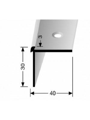 Profilis aliuminis, kampų apdailai BEST 871, 2,5 m