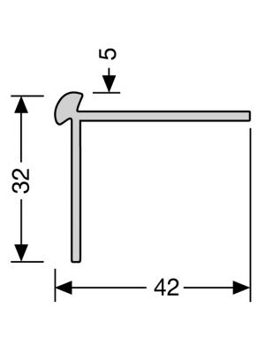 Profilis aliuminis, kampų apdailai BEST 873, 2,5 m