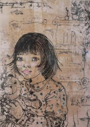 """Edita Suchockytė / """"Mergaitė"""" / 2012 / monotipija / 65x48"""