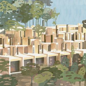 Tapetai (panelės) 9000030N neaustinio pluošto, Random Archist, Coordonne (galimi skirtingi dydžiai)