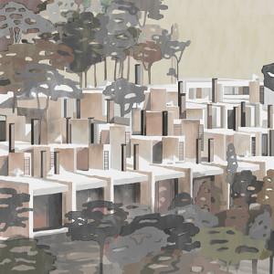 Tapetai (panelės) 9000031N neaustinio pluošto, Random Archist, Coordonne (galimi skirtingi dydžiai)