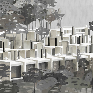 Tapetai (panelės) 9000032N neaustinio pluošto, Random Archist, Coordonne (galimi skirtingi dydžiai)