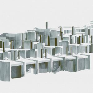 Tapetai (panelės) 9000033N neaustinio pluošto, Random Archist, Coordonne (galimi skirtingi dydžiai)