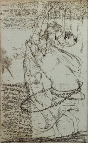 "Grafika / Edita Suchockytė / ""Žiedas"" / 2007 / ofortas / 32x20"
