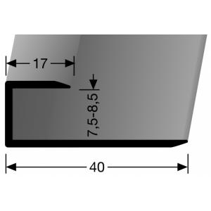 Profilis aliuminis, kraštų užbaigimui BEST 200 U (nepragręžtas), 2,7 m