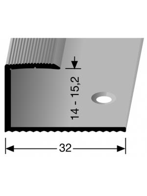 Profilis aliuminis, kraštų užbaigimui BEST 215, 2,7 m
