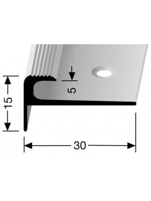 Profilis aliuminis, laiptų apdailai BEST 807, 2,5 m