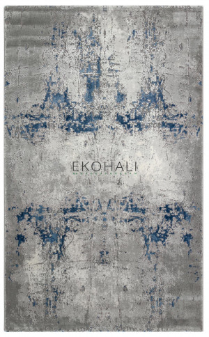 Kilimas Ekohali Como CM07 pilka navy 120x170 cm