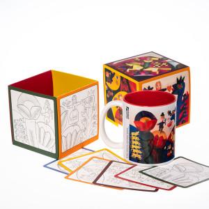 """Puodelis """"Nykštukas 1. Vilkai"""" dėžutėje su spalvinimo kortlelėmis"""