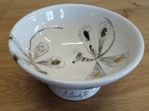 Autorinė keramika / Eglė Einikytė / Indelis su laumžirgiais mažas