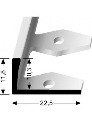 Profilis aliuminis, kraštų užbaigimui EB 304 (lenkiamas), 2,5 m