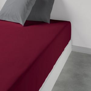 Patalynė paklodė su guma 180 x 200 x 35 cm grenat Les Ateliers du Linge