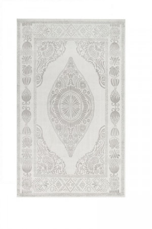 Kilimas Vallila Hula shiny white beige 68x110 cm